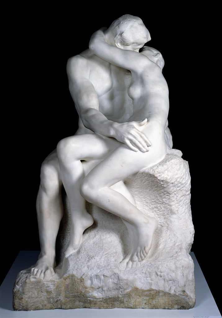 The Kiss, 1888-98 (marble) (see also 190950) by Auguste Rodin
