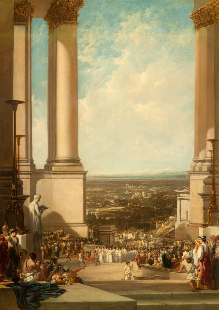 The Temple of Aesculapius, 1837  by Augustus Wall Callcott