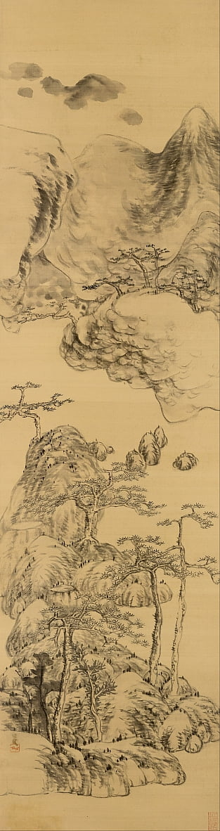 Landscape in the style of Wu Zhen, (1280-1354) by Bada Shanren