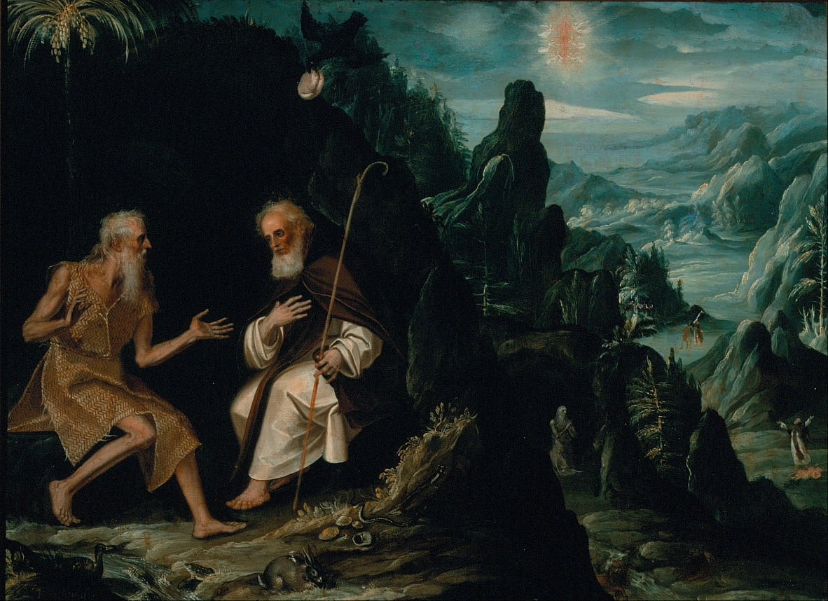 The Hermits, Saint Paul and Saint Anthony by Baltasar de Echave Ibía