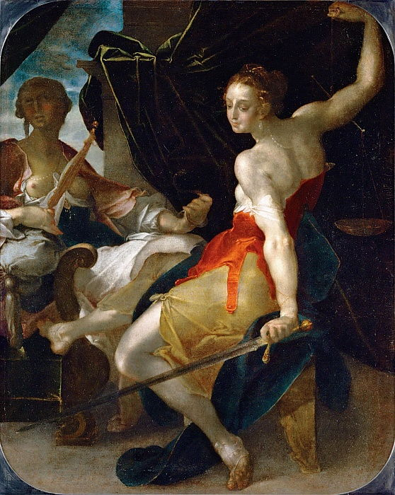Allegory of Justice and Prudence by Bartholomaeus Spranger