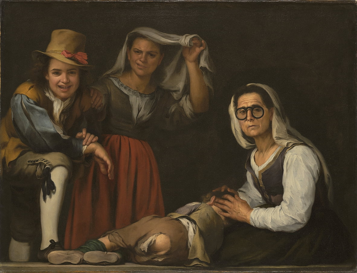 Four Figures on a Step by Bartolomé Esteban Murillo
