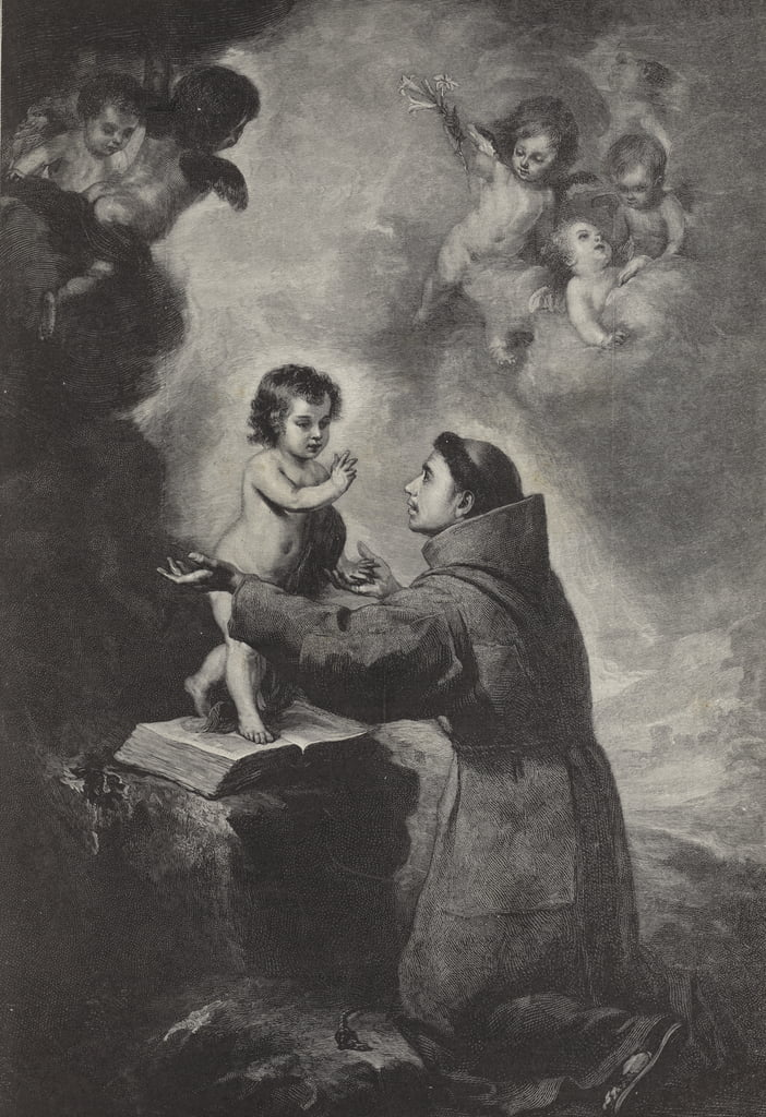 The Vision of St Anthony of Padua  by Bartolomé Esteban Murillo