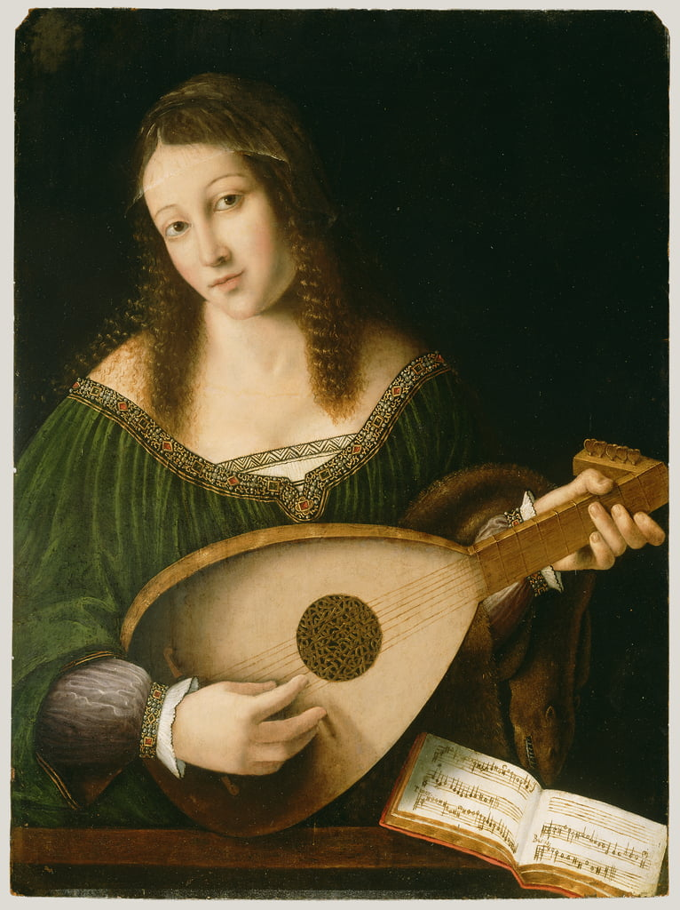 Lady Playing a Lute, c.1530  by Bartolomeo Veneto