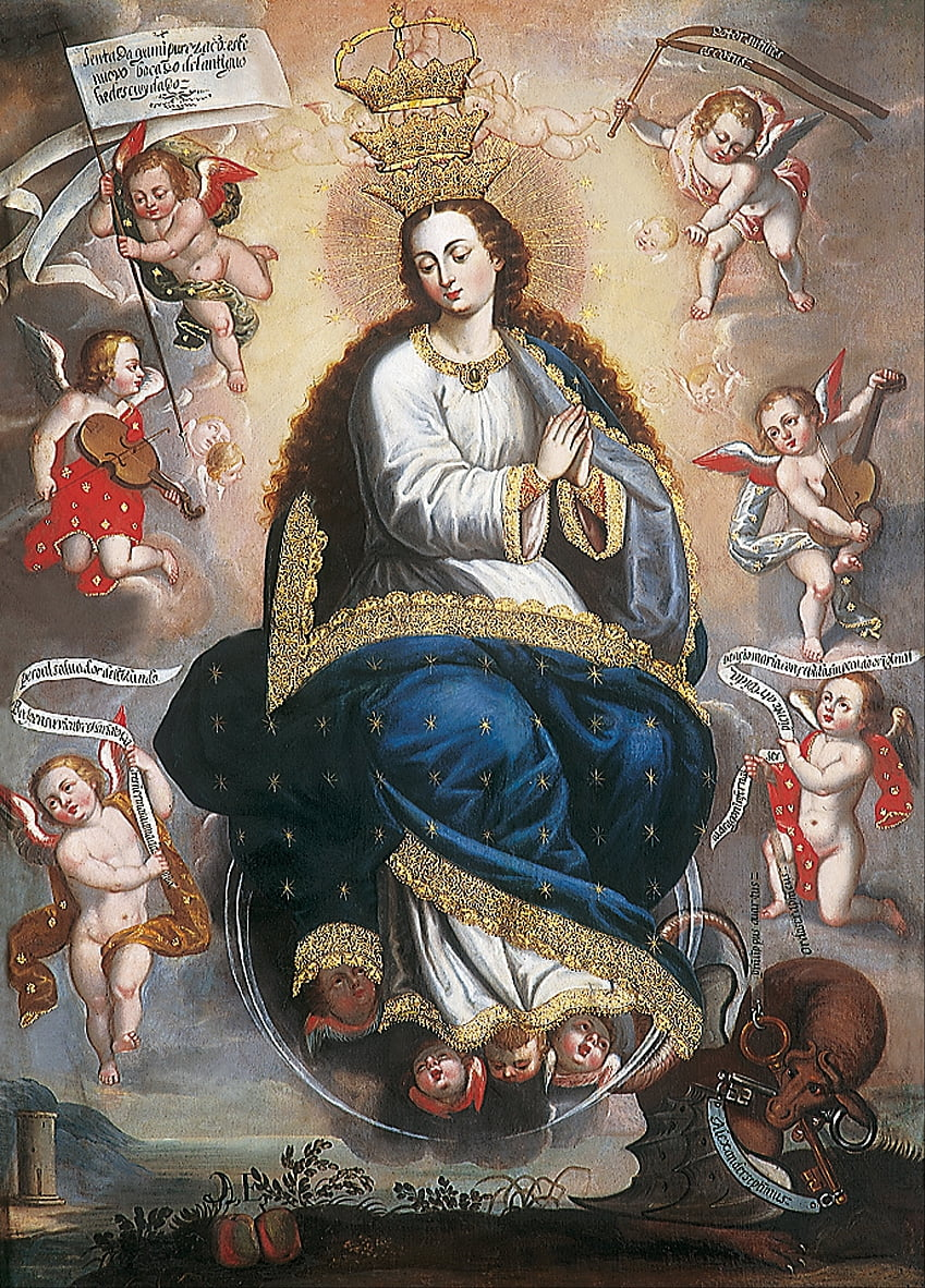 Immaculate Virgin Victorious over the Serpent of Heresy by Basilio de Santa Cruz Pumacallao