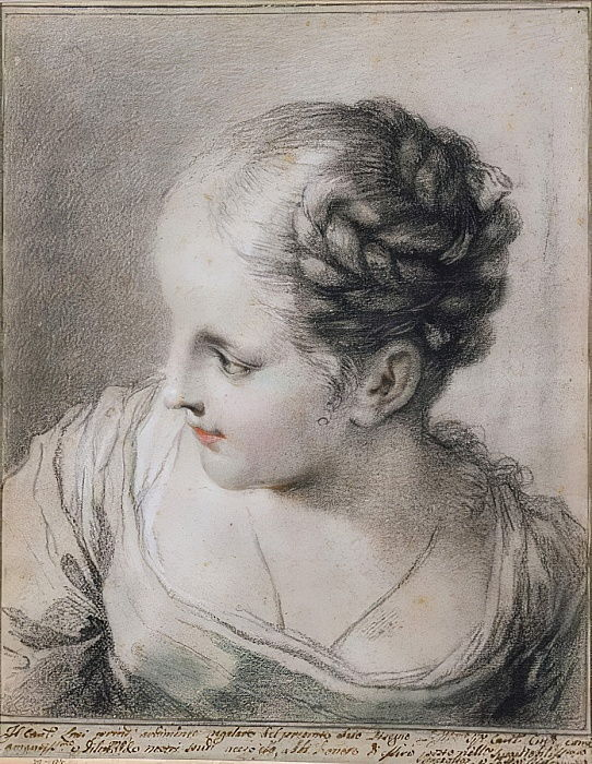Head of a Girl  by Benedetto Luti