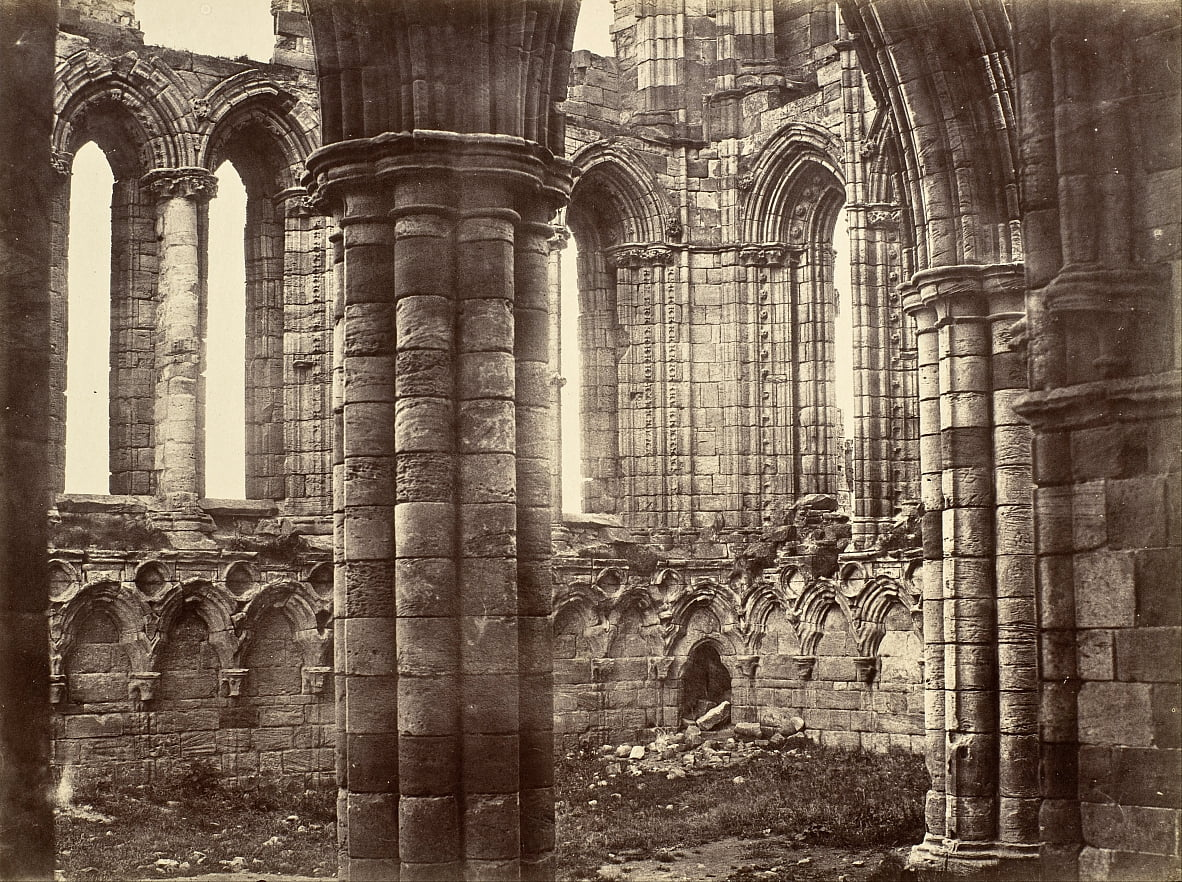 Whitby Abbey, Yorkshire, North Transept by Benjamin Brecknell Turner