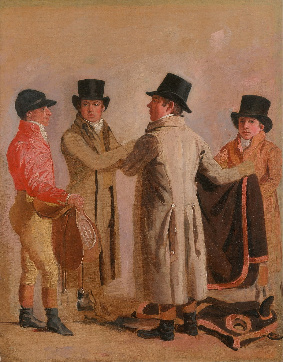 The Jockey Frank Buckle, the Owner-Breeder John Wastell, his Trainer Robert Robson, and a Stable-lad by Benjamin Marshall