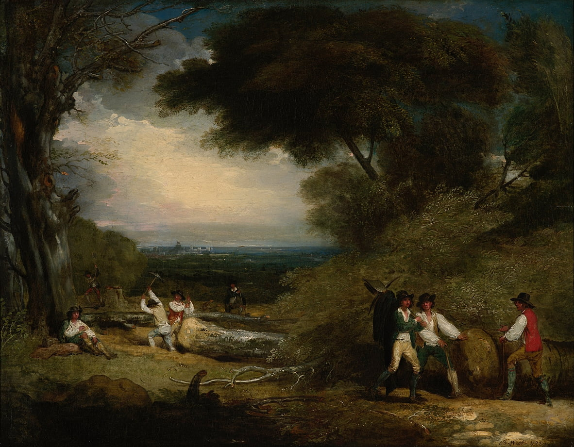 Woodcutters in Windsor Park by Benjamin West