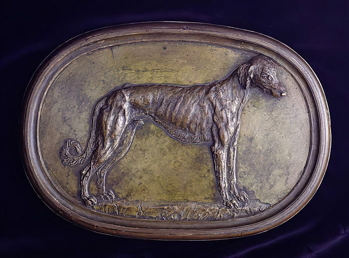 Relief of a Greyhound (bronze) by Benvenuto Cellini