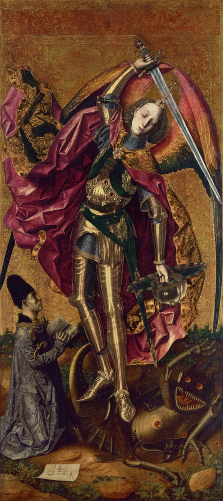 St. Michael and the Dragon by Bartolomé Bermejo