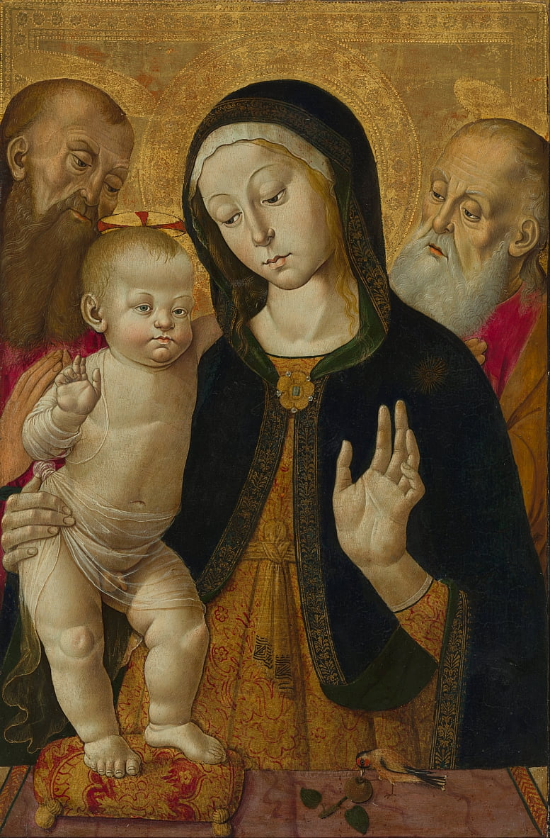 Madonna and Child with Two Hermit Saints by Bernardino Fungai