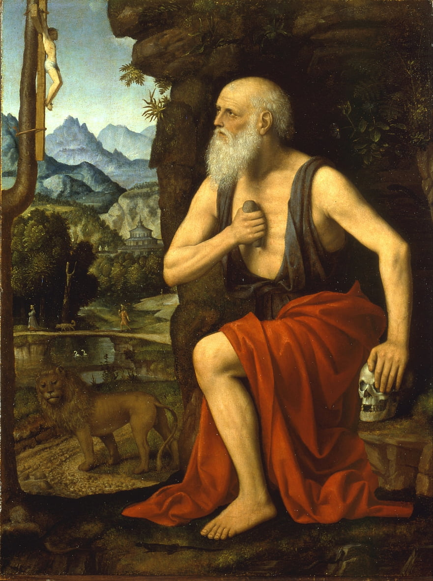 Saint Jerome in Penitence by Bernardino Luini