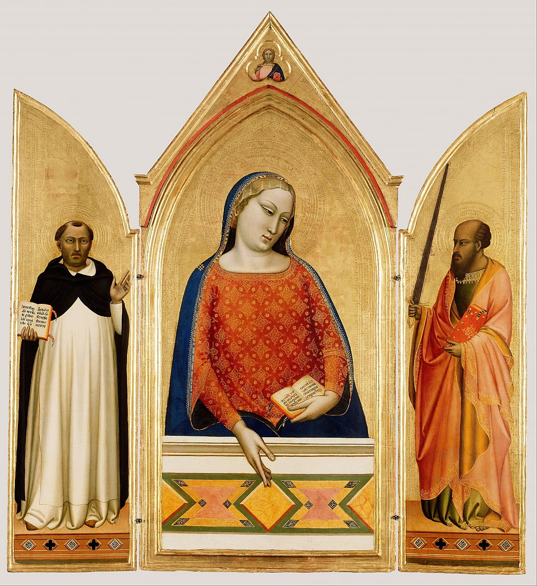 Virgin Mary with Saint Thomas Aquinas and Saint Paul  by Bernardo Daddi