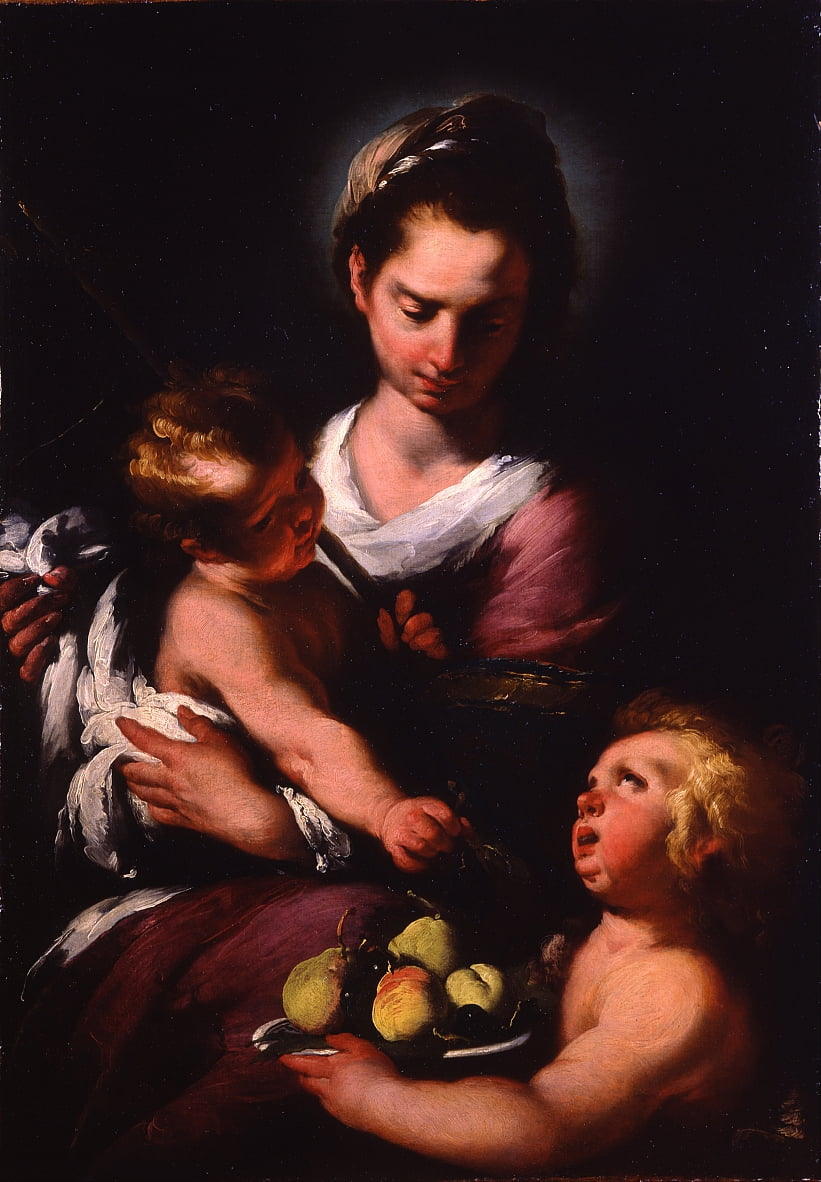 The Virgin and Child with the Infant Saint John by Bernardo Strozzi