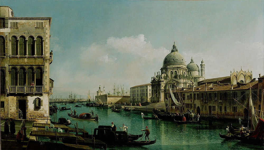 View of the Grand Canal and the Punta della Dogana, ca 1743 by Bernardo Bellotto