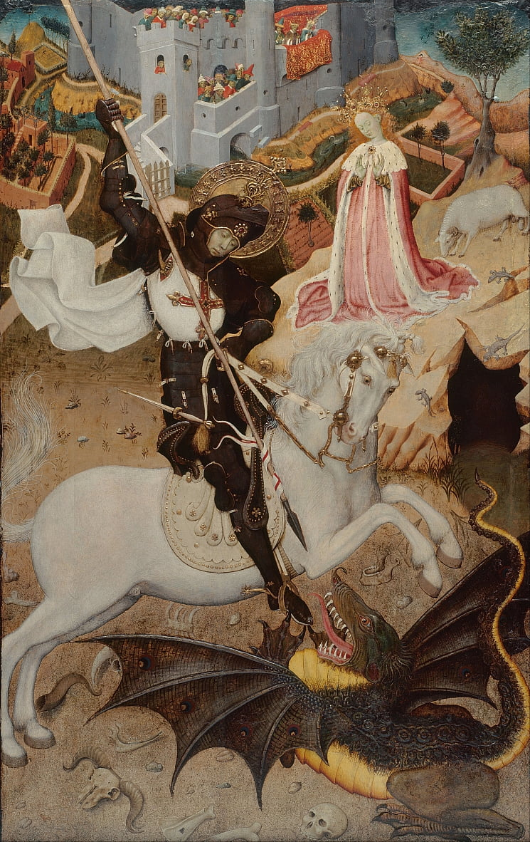 Saint George Killing the Dragon by Bernat Martorelli