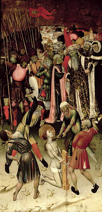 The Persecution of St. George. c.1435  by Bernat Martorelli