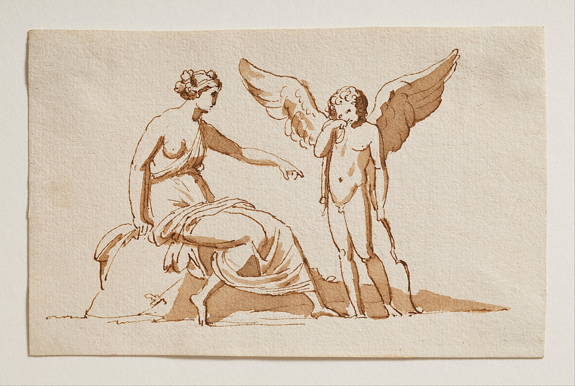 Cupid Complains to Venus of a Beesting by Bertel Thorvaldsen