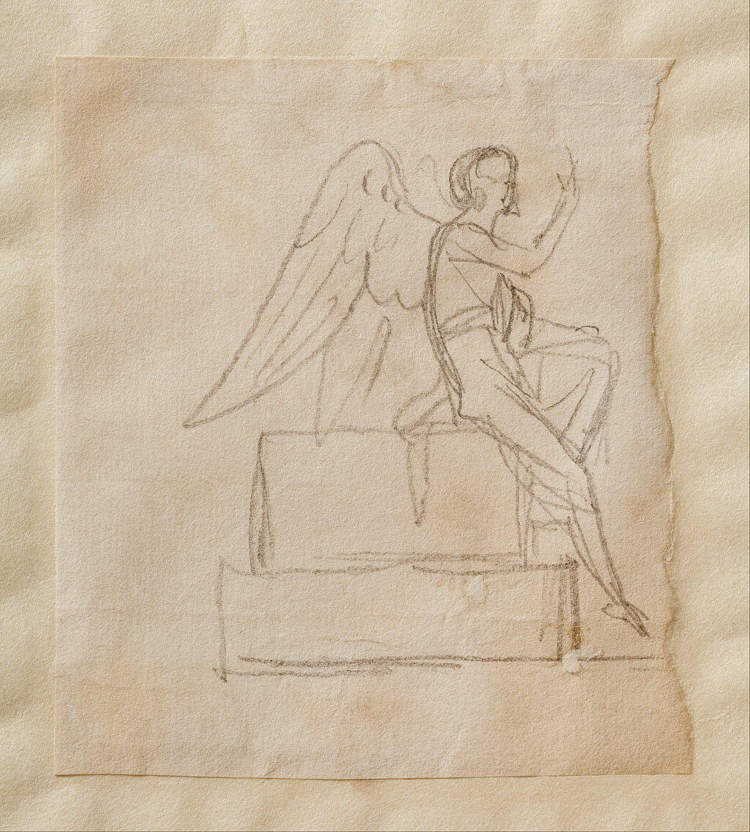 The Angel on Christs Sarcophagus by Bertel Thorvaldsen