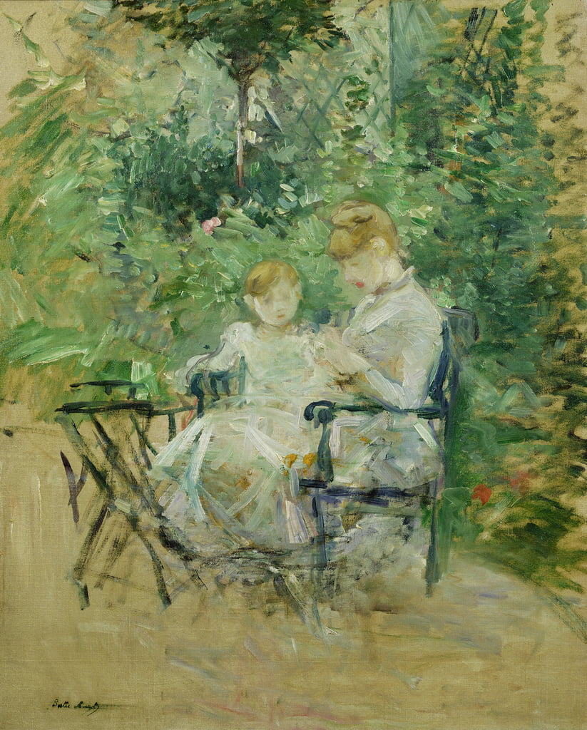 In the Garden, c.1885  by Berthe Morisot