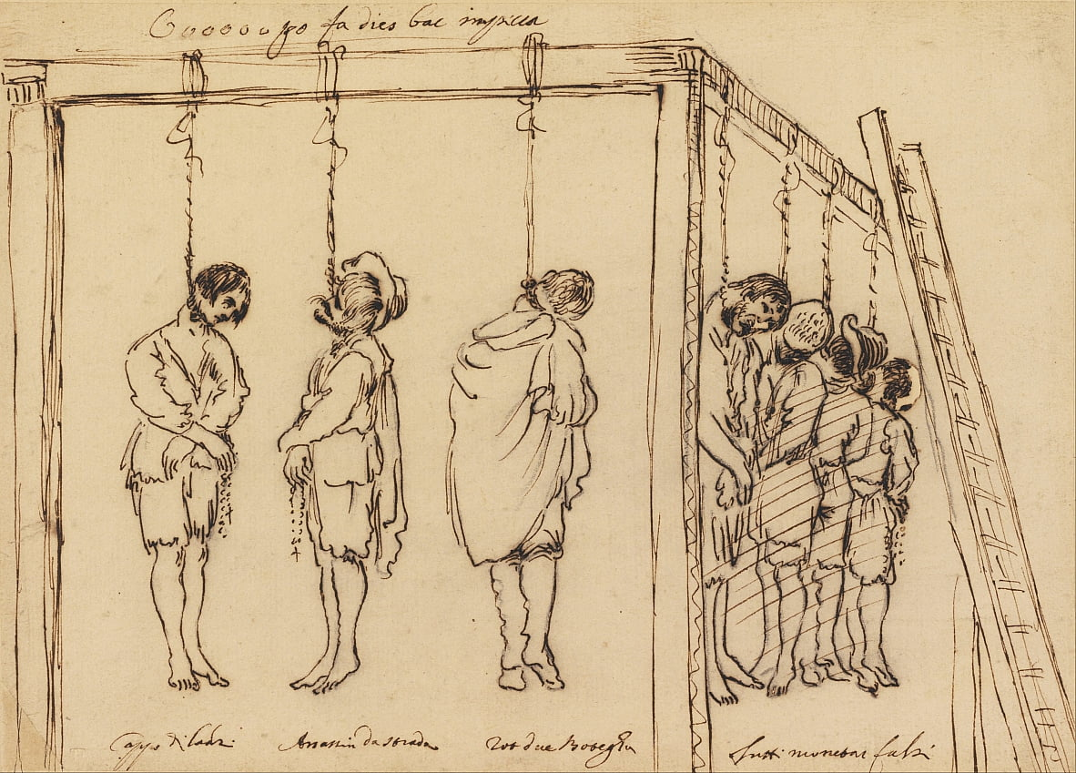 Seven Men on the Gallows by Unknown