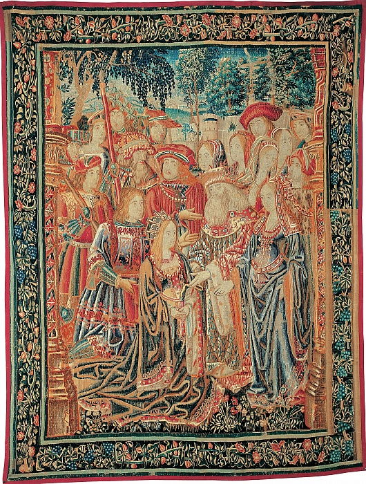The Story of Troy. The Pardon of Helen, c. 1520 by Brussels Manufactory