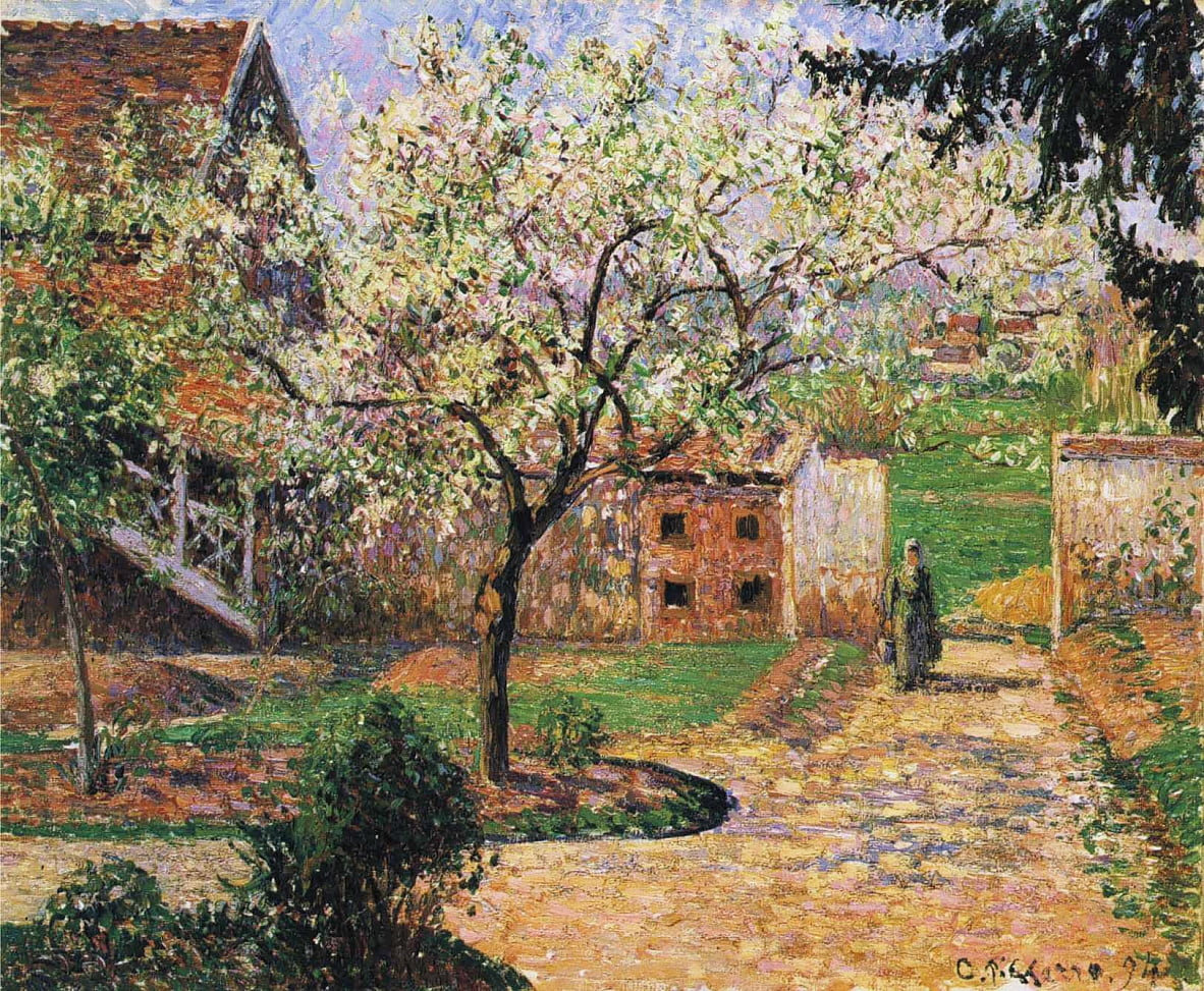 Flowering Plum Tree, Eragny by Camille Jacob Pissarro