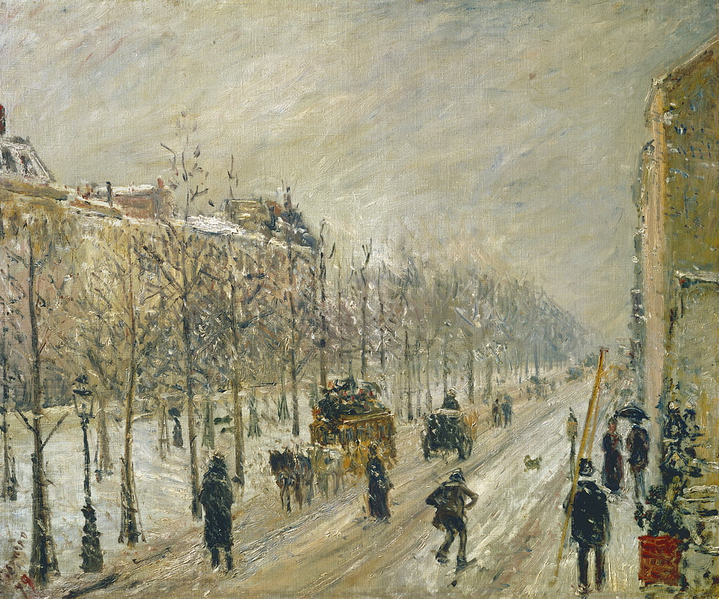 The Boulevards under Snow, 1879  by Camille Jacob Pissarro