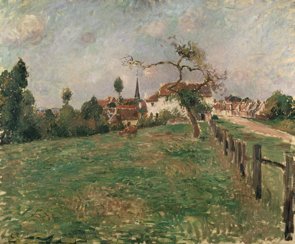 The Village of Eragny, 19th century  by Camille Jacob Pissarro
