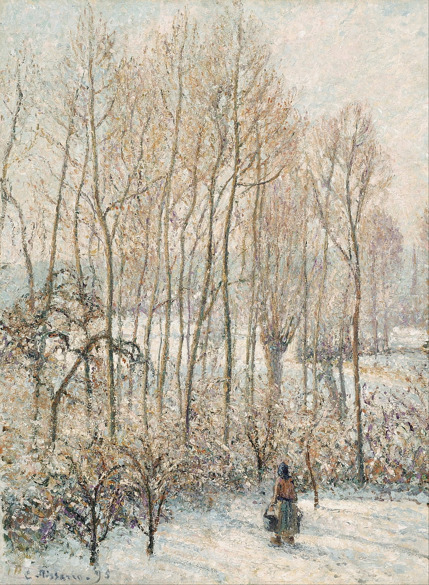 Morning Sunlight on the Snow, Eragny-sur-Epte by Camille Jacob Pissarro