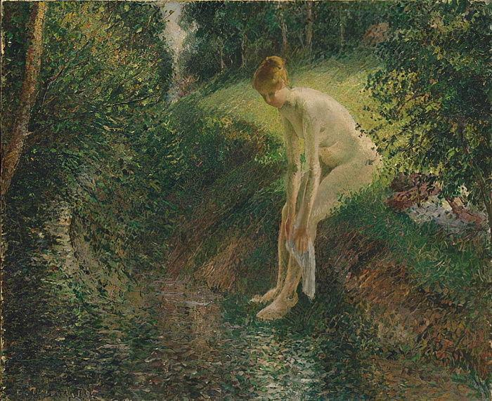 Bather in the Woods, 1895  by Camille Jacob Pissarro