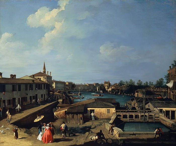 Dolo on the Brenta  by Giovanni Antonio Canal