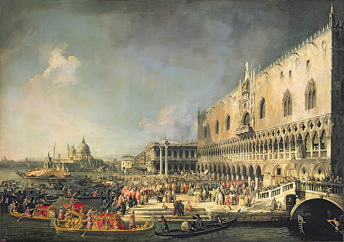 The Reception of the French Ambassador in Venice, c.1740