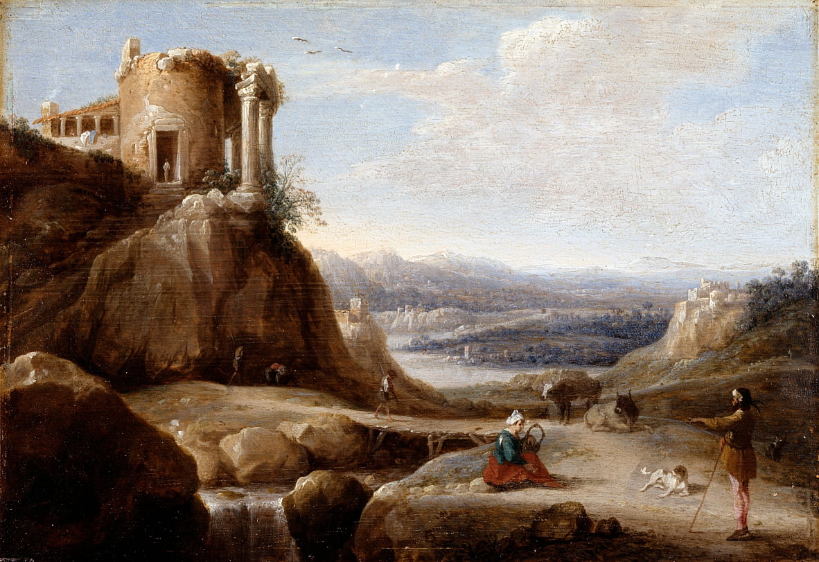 A Ruined Temple by Carel Cornelisz De Hooch