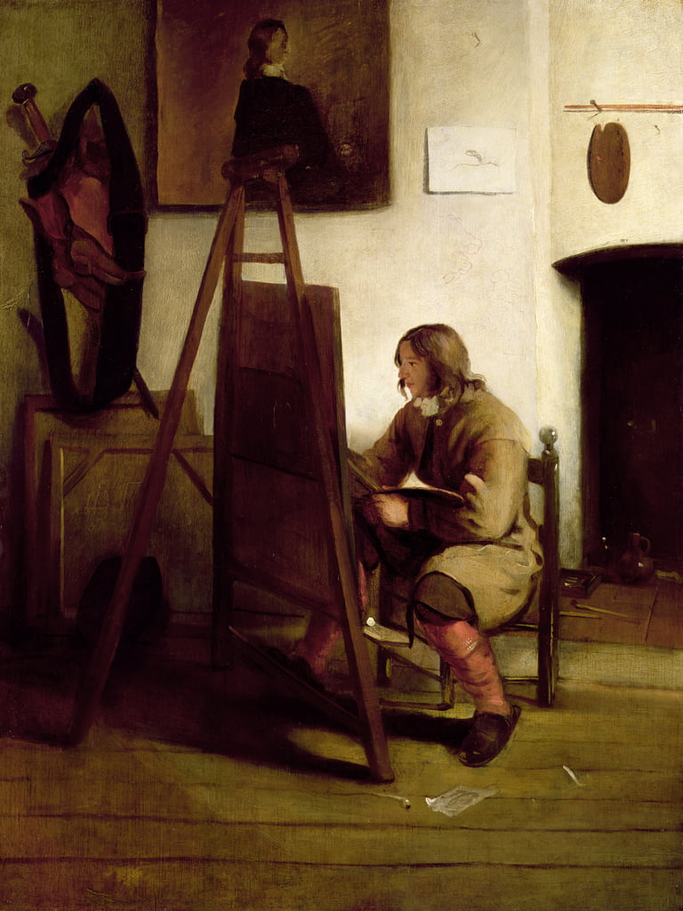 An artist in his studio  by Carel Fabritius