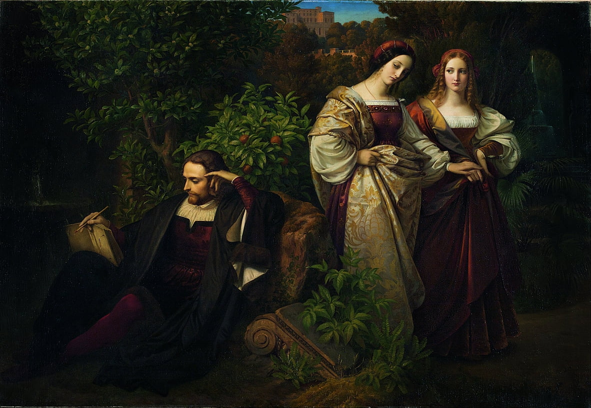 Torquato Tasso and the Two Leonores by Carl Ferdinand Sohn