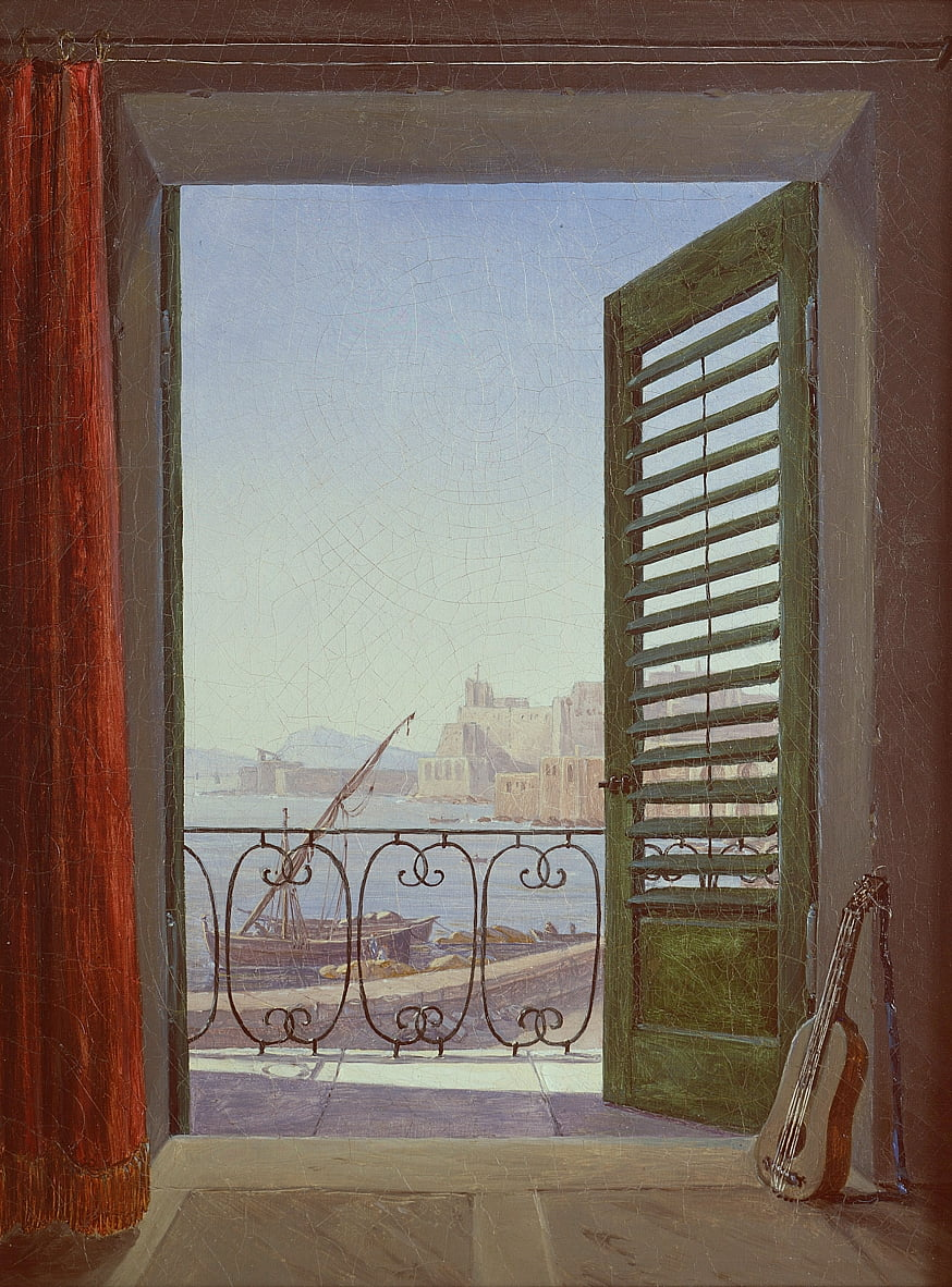 Balkon in Neapel by Carl Gustav Carus