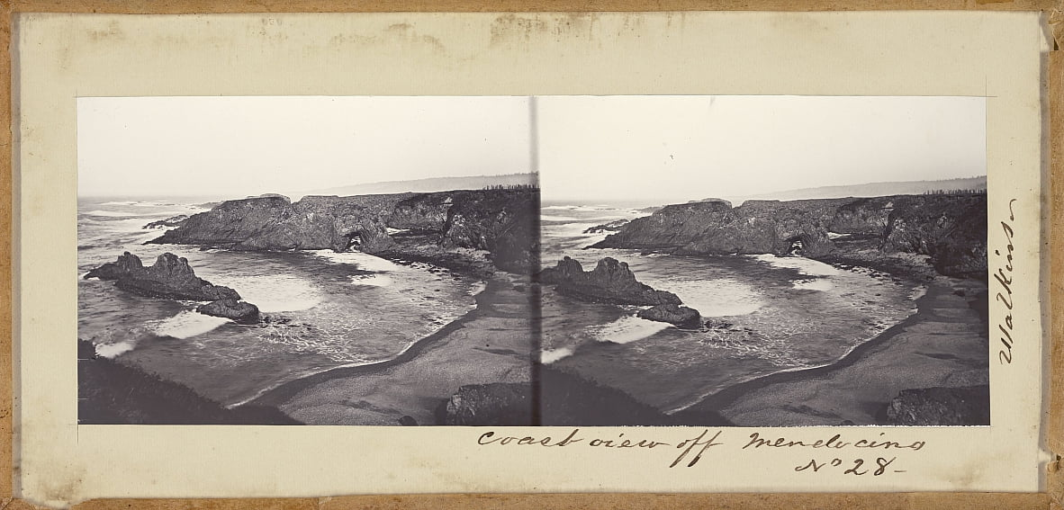 (Coast View off Mendocino) by Carleton E. Watkins