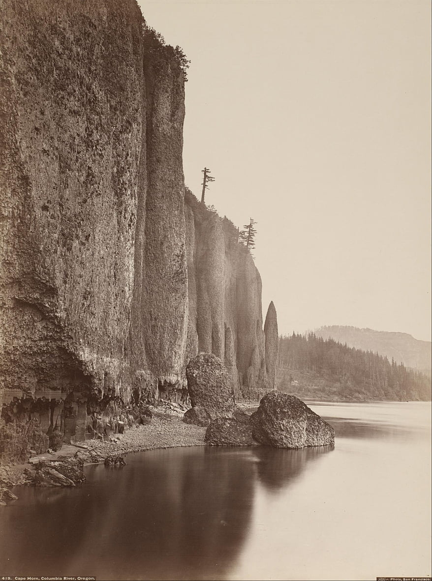 Cape Horn, Columbia River, Oregon by Carleton E. Watkins