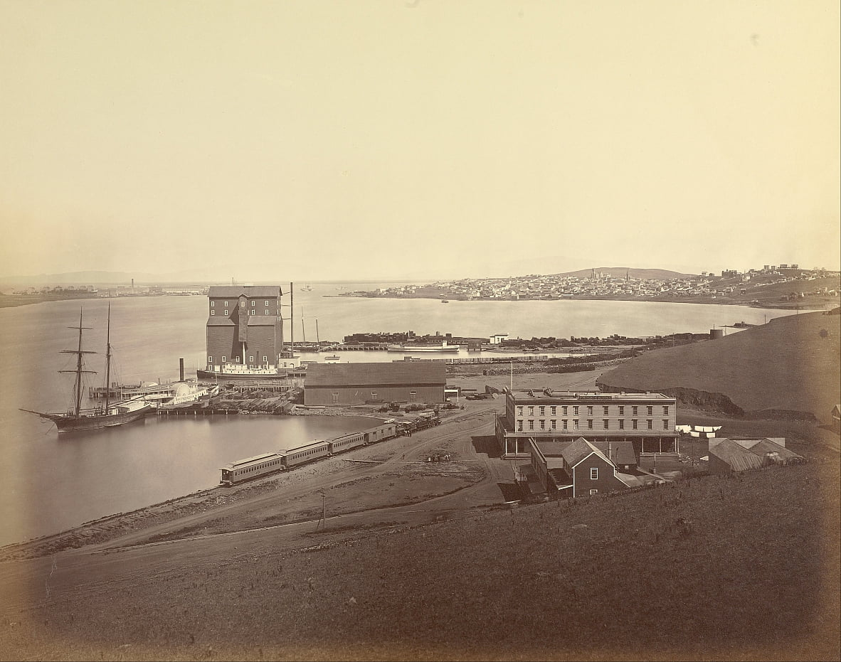 City of Vallejo from South Vallejo, Solano County by Carleton E. Watkins