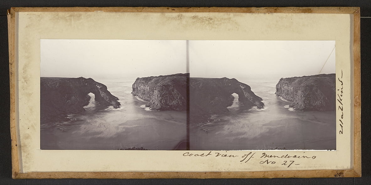 Coast View off Mendocino by Carleton E. Watkins