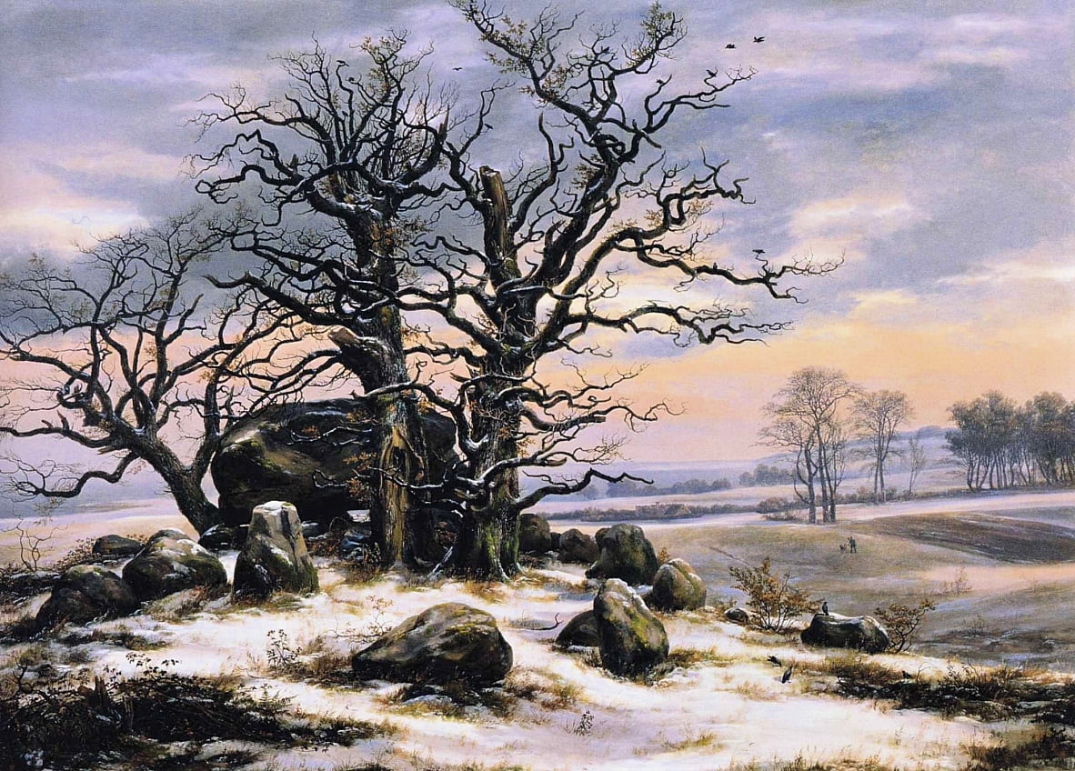 Megalith Grave in Winter by Caspar David Friedrich