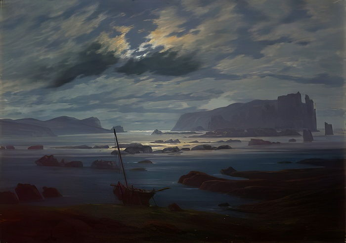 The Northern Sea in Moonlight, 1823-24  by Caspar David Friedrich