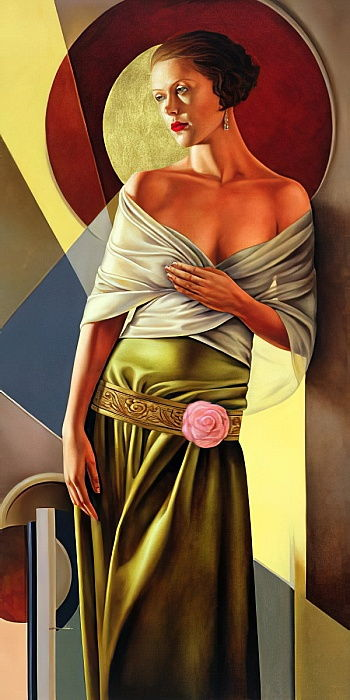 Reflections of Grace, 2006 (oil on linen) by Catherine Abel