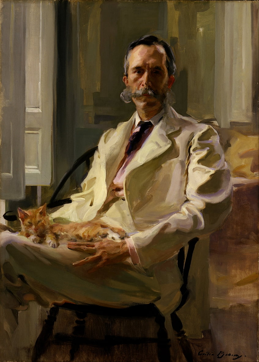 Man with the Cat (Henry Sturgis Drinker) by Cecilia Beaux
