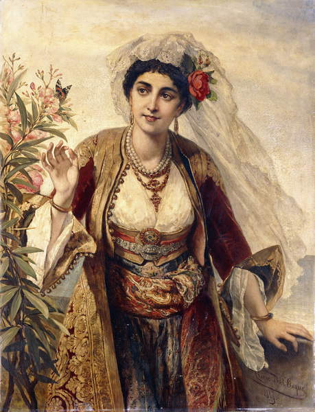 An Exotic Beauty, 1869 by Cesare Felix dell Acqua