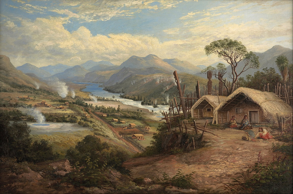 Orakei Korako on the Waikato by Charles Blomfield