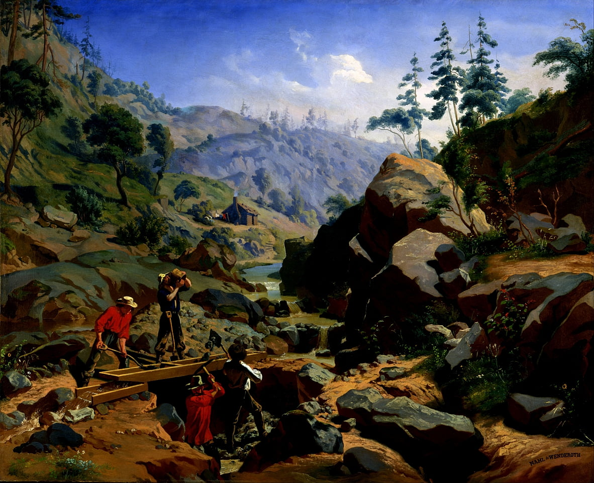 Miners in the Sierras by Charles Christian Nahl