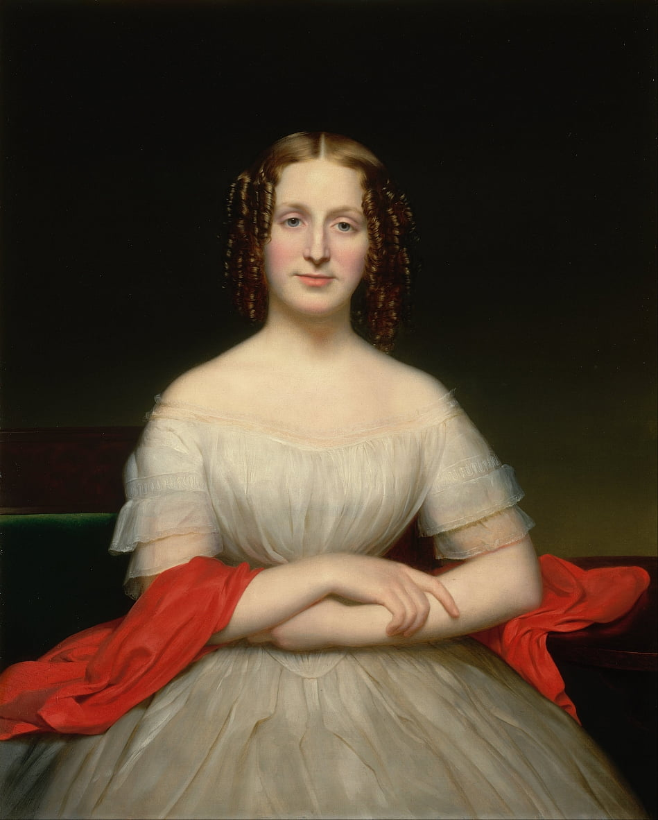 Portrait of Fidelia Marshall by Charles Cromwell Ingham